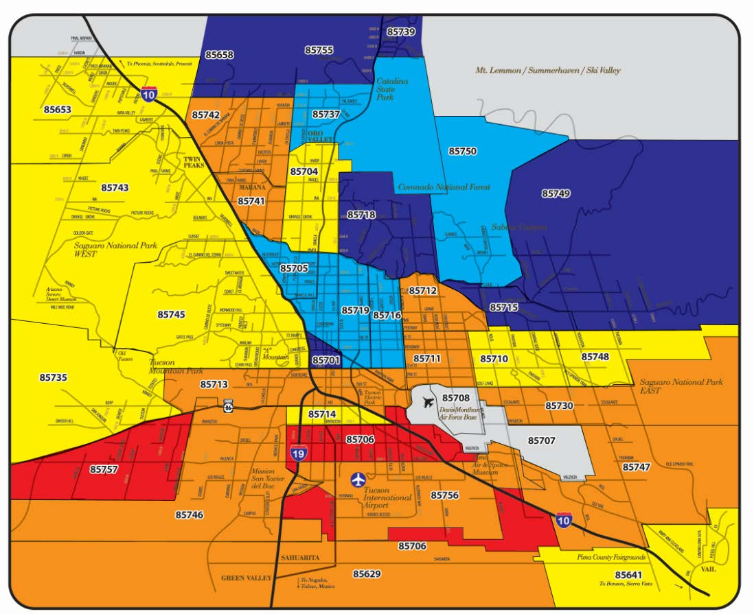 Sierra Vista Zip Code Map.Long Realty S Heat Map Charts Hot Markets Long Realty Blog